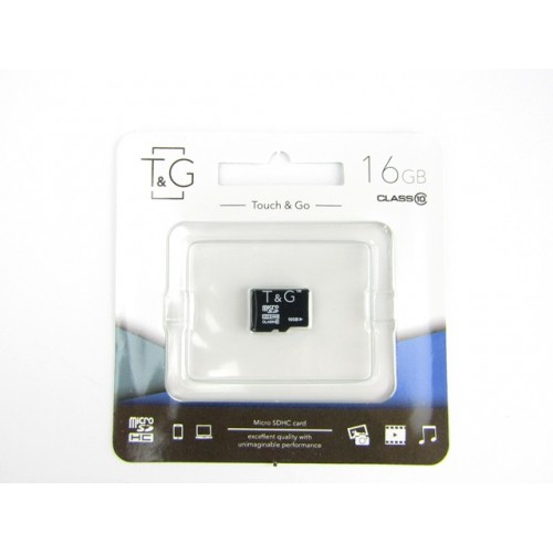 Карта памяти micro SDHC (UHS-1) T&G 16GB class 10 (без адаптера)
