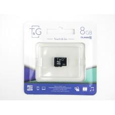Карта памяти micro SDHC T&G  8GB class 10 (без адаптера)