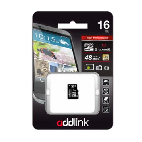 Карта памяти microSD UHS1 AddLink 16GB (Class10)