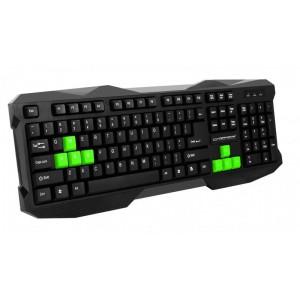 Клавиатура ESPERANZA EGK101 GREEN USB