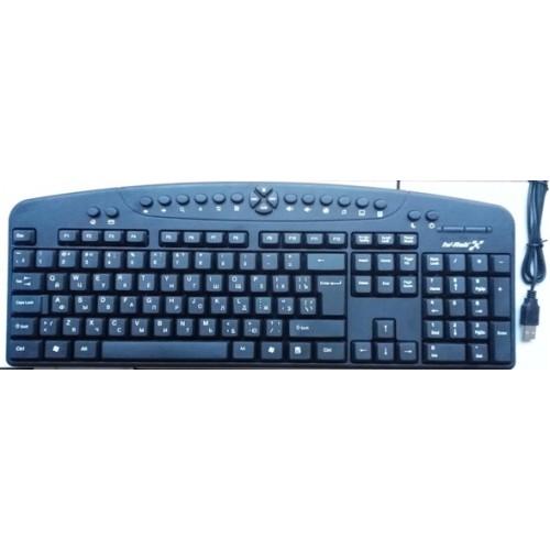 Клавиатура мультимедийная проводная HI-RALI KB2015