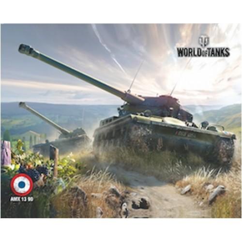 Коврик для мыши - PAD107 / World of Tanks AMX 1390 ( 250 Х 200 )