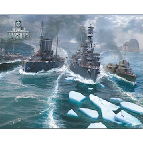 Коврик для мыши - PAD110 / World of Warships ( 250 Х 200 )