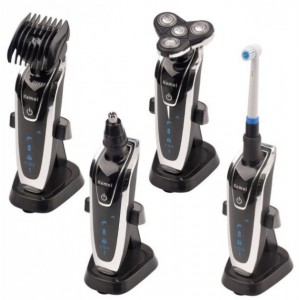 Електрична бритва 4 в 1 KM 5181 (бритва, триммер, зубна щітка, машинка для стрижки)