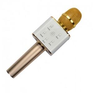 Мікрафон Q7 золото, коробка (уцінка, 1 мікр-вм'ятина на корпусі, 2 мікр-розхитана ручка, на роботу не впливає)
