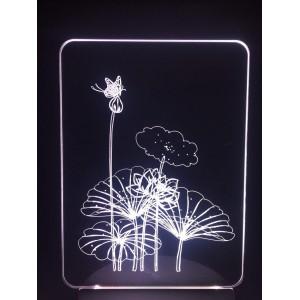 Настольный светильник 3D Цветы EL-266 с пультом