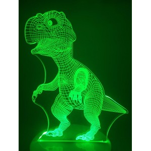 Настольный светильник 3D Динозавр EL-266 с пультом
