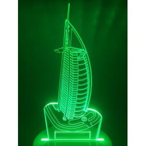 Настольный светильник 3D Дубаи EL-266 с пультом