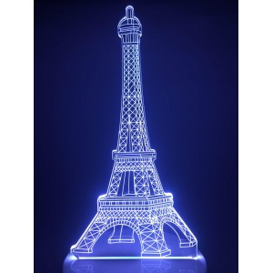 Настольный светильник 3D Эйфелева Башня EL-266 с пультом