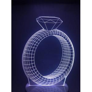 Настольный светильник 3D Кольцо EL-266 с пультом