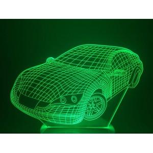 Настольный светильник 3D Машина EL-266 с пультом