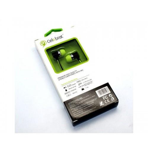 Наушники вакуумные Celebrat S-50 green