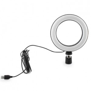 Кольцевая LED лампа USB 20cm для селфи  RING LIGHT 7326