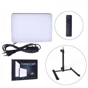 LED лампа для студійного освітлення прямокутна MM-240 (Ra95+) (23см*16см, пульт, 220V)