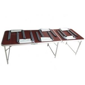 Розкладний стіл-чемодан + 6 стільців