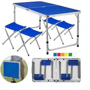 Стіл-чемодан розкладний похідний з 4 стільцями (стіл для пікніка) DT 4251
