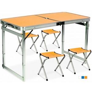 Стіл-чемодан посилений розкладний похідний з 4 стільцями (стіл для пікніка) GP 4282