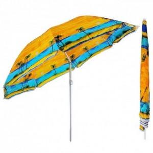 Пляжна парасолька з нахилом купола, Anti-UV 1,8 м