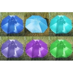 Пляжна парасолька з срібним напиленням 082P-2S, регулюванням нахилу купола, клапаном, 1.7 м (ромашка)