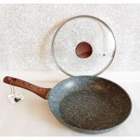 Сковорода с мраморным антипригарным покрытием RB-751, 26 см