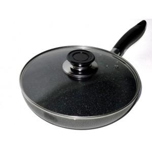 Сковорода з кришкою WX 2405 Frying Pan Teflon, 24 см, покриття граніт
