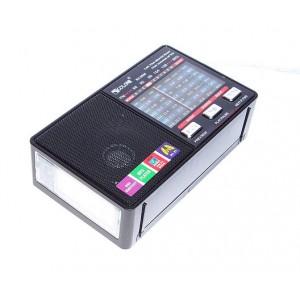 Радіоприймач портативний аналоговий, LED ліхтарик GOLON RX-8866
