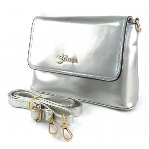 Клатч женский лаковый 72322 Silver