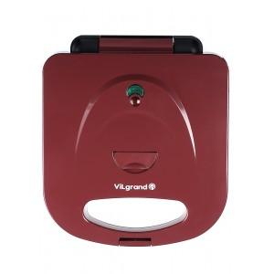 Сендвічниця 3 в 1 ViLgrand VW0753M_red (вафельниця, гриль, сендвічниця), 750 Вт