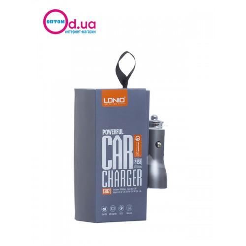Автомобильный адаптер в прикуриватель LDNIO Micro DL-C407Q