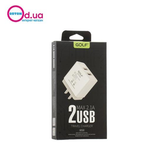Сетевое зарядное устройство GOLF GF-U2 2USB