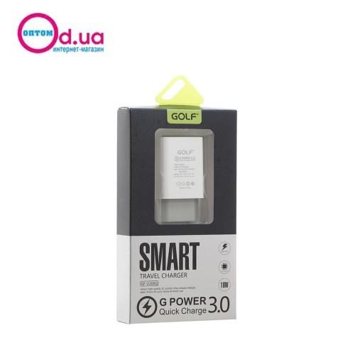 Сетевое зарядное устройство GOLF GF-U206Q QC 3.0 1USB