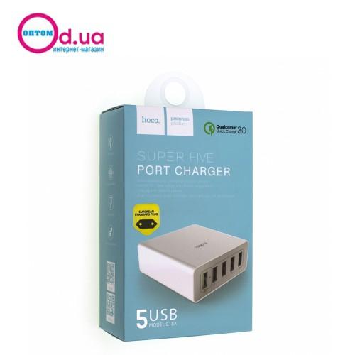 Сетевое зарядное устройство HOCO C18A QC3.0 5USB