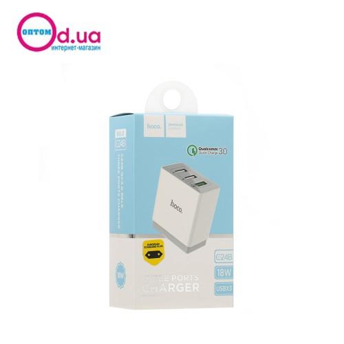 Сетевое зарядное устройство Hoco C24B BeLe QC3.0 3USB