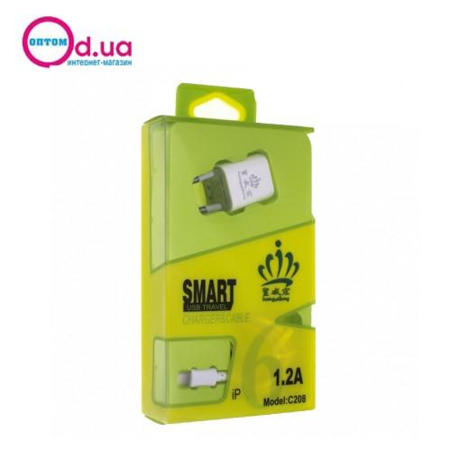 Сетевое зарядное устройство HWH C208 LIGHTNING