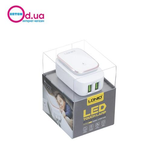 Сетевое зарядное устройство LDNIO A2205 LIGHTNING