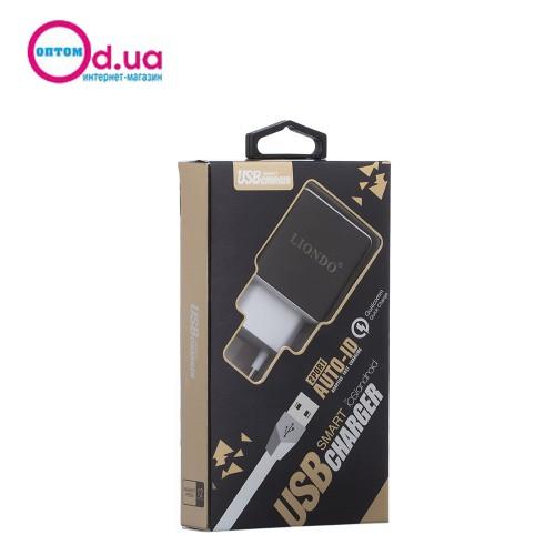 Сетевое зарядное устройство LIONDO 3204 Micro 2USB 2.1A