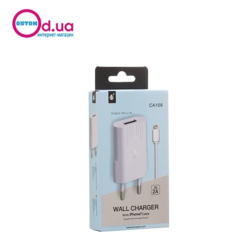 Сетевое зарядное устройство MTK CA109 LightNinG 1USB 1.0A