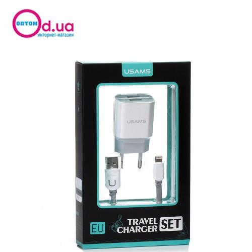 Сетевое зарядное устройство USAMS IPCCUJT01 LIGHTNING