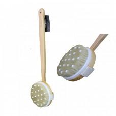 Щетка банная с натуральным ворсом и массажером (BH90507)