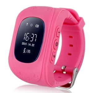 Смарт часы детские с gps трекером smart baby watch q50 pink