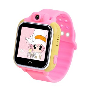 Смарт часы детские с gps-трекером smart baby watch tw6 розовые