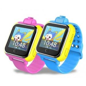 Смарт часы детские с gps-трекером smart baby watch tw6 синие