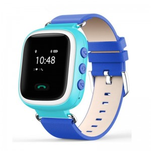 Смарт часы детские smart baby watch tw2 0.96' oled blue с gps трекером