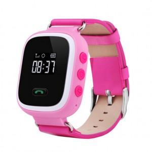 Смарт часы детские smart baby watch tw2 0.96' oled pink с gps трекером