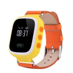 Смарт часы детские smart baby watch tw2 0.96' oled yellow с gps трекером