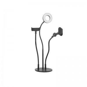 Держатель с LED подсветкой 3 in 1 (LED лампа, держатель для телефона, держатель для микрофона)