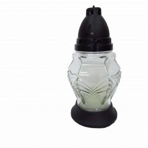 Лампадка стеклянная со свечой Зиг-Заг