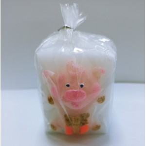 Новогодняя свеча со свинкой