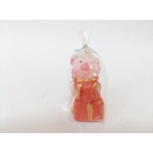 Новогодняя свеча Свинка маленькая с подарком
