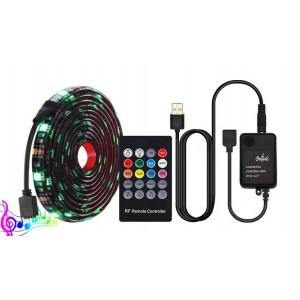 Світлодіодна cтрічка LED 5V 5050 +mic, music комплект